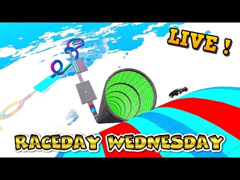 LIVE --- RACEDAY WEDNESDAY #104 --- Full Lobby Racing w/ GCCC Crew --- NEW CUSTOM Cunning Stunts