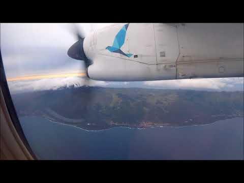 SATA Air Açores Dash 8 Q200 impressive inter-island flight from Ponta Delgada to Horta