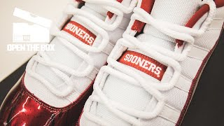 UNBOXING: Exclusive Look at the Air Jordan 11 Oklahoma Sooners PEs   Open the Box