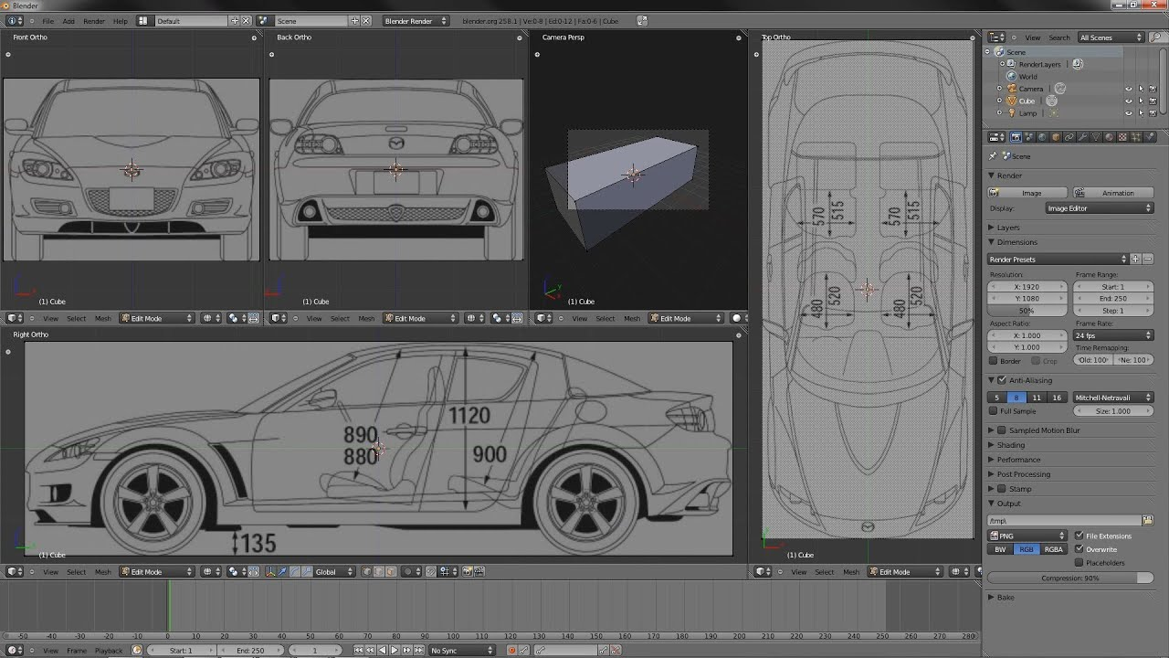 Tutorial setting up reference images in blender youtube malvernweather Images