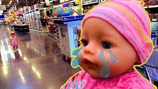 Кукла Беби Бон Cсбежала Лиза плачет Как мама Crying Baby Born Doll