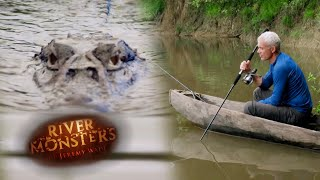 Caiman Sneaks Up On Jeremy Wade! | SPECIAL EPISODE | River Monsters