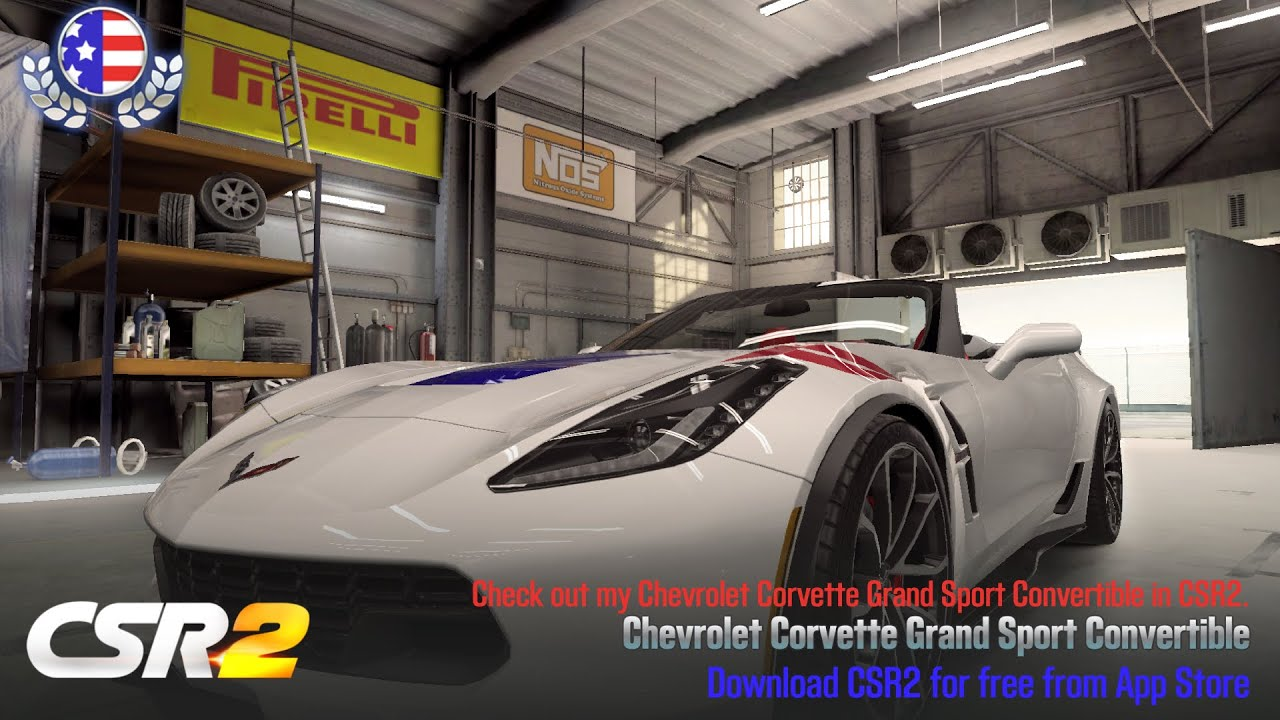 【CSR2】Corvette Grand Sport Convertible, shift & tune for 8 002