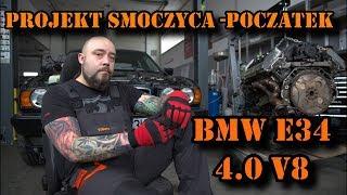 BMW E34 V8 Smoczyca łysego. Reanimacja serca, początek projektu.