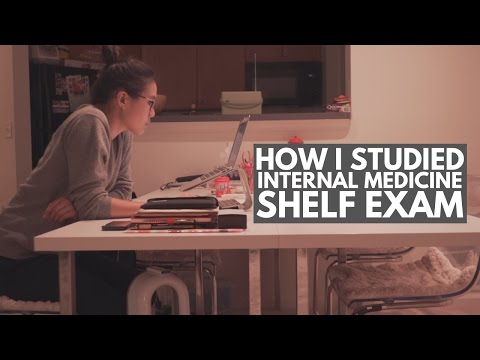HOW I STUDIED FOR MY INTERNAL MEDICINE SHELF EXAM - 3rd Year of Med School Vlog