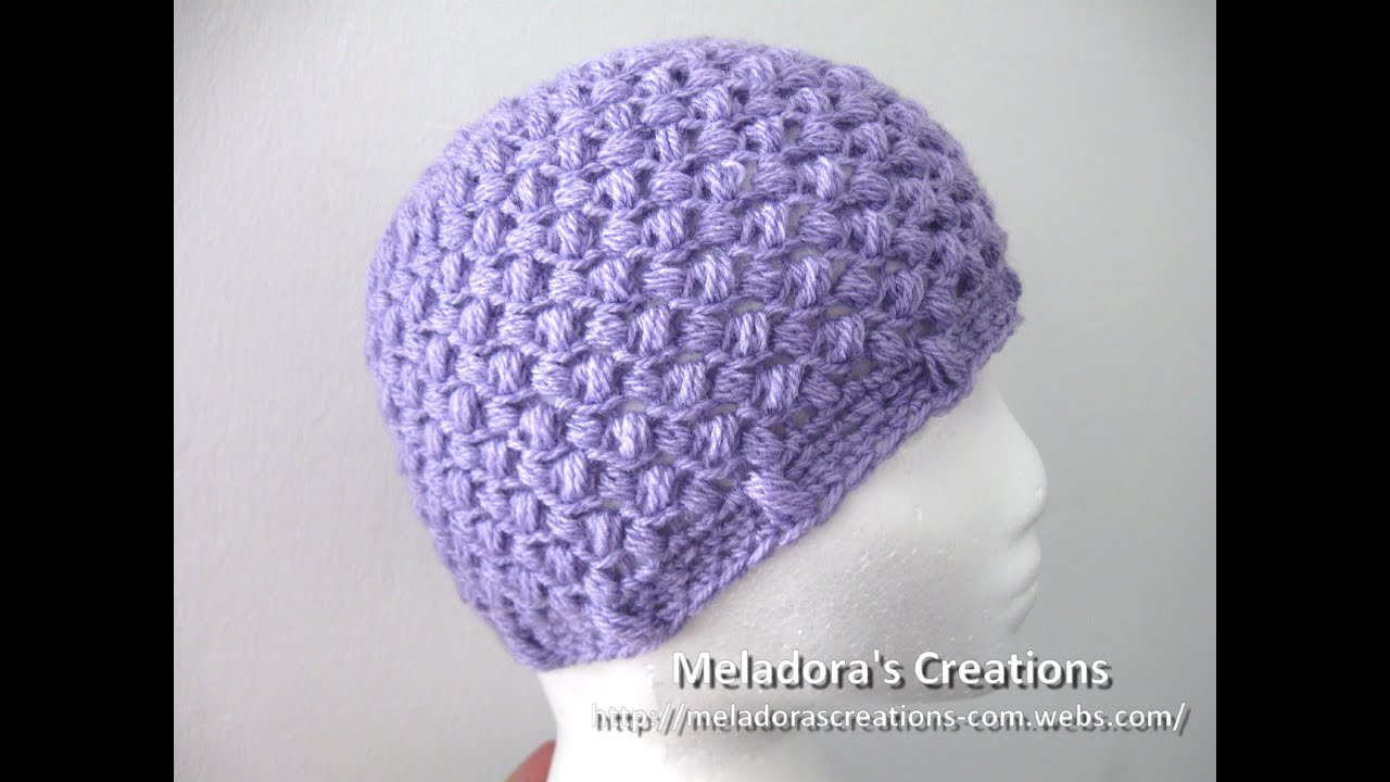 e947eeefa2c Bean Stitch Beanie - Left Handed Crochet - Baby - Adult sizes - YouTube