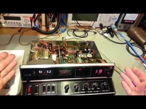 Cobra 135XLR 40 channel AM/SSB CB radio restoration.