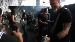 Metallica [EXCLUSIVE] BACKSTAGE and walking to the stage Official Sonisphere 2009