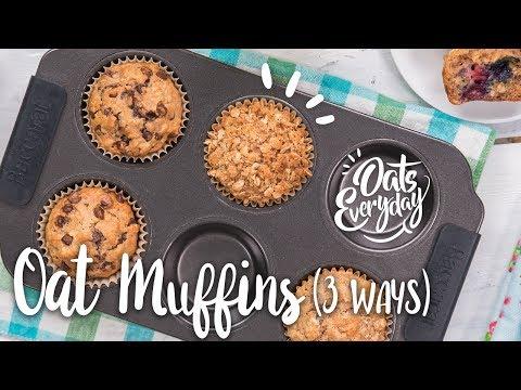 Oat Muffins (Three Ways)