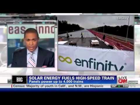 Solar Powered High Speed Trains