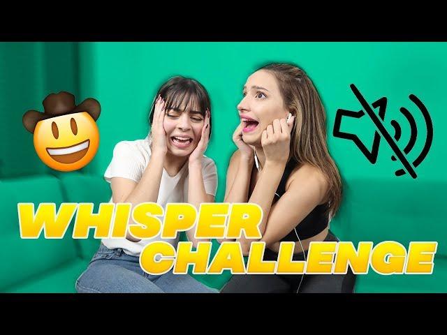 WHISPER CHALLENGE con MARIAM OBREGON 🤠✌