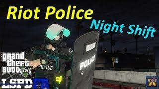 Los Santos Riot Police Night Shift | GTA 5 LSPDFR Episode 358