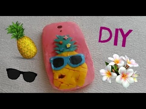 newest e4431 6f9c3 Cute DIY❤How To Make A Scented Hawaiian Pineapple Phone case