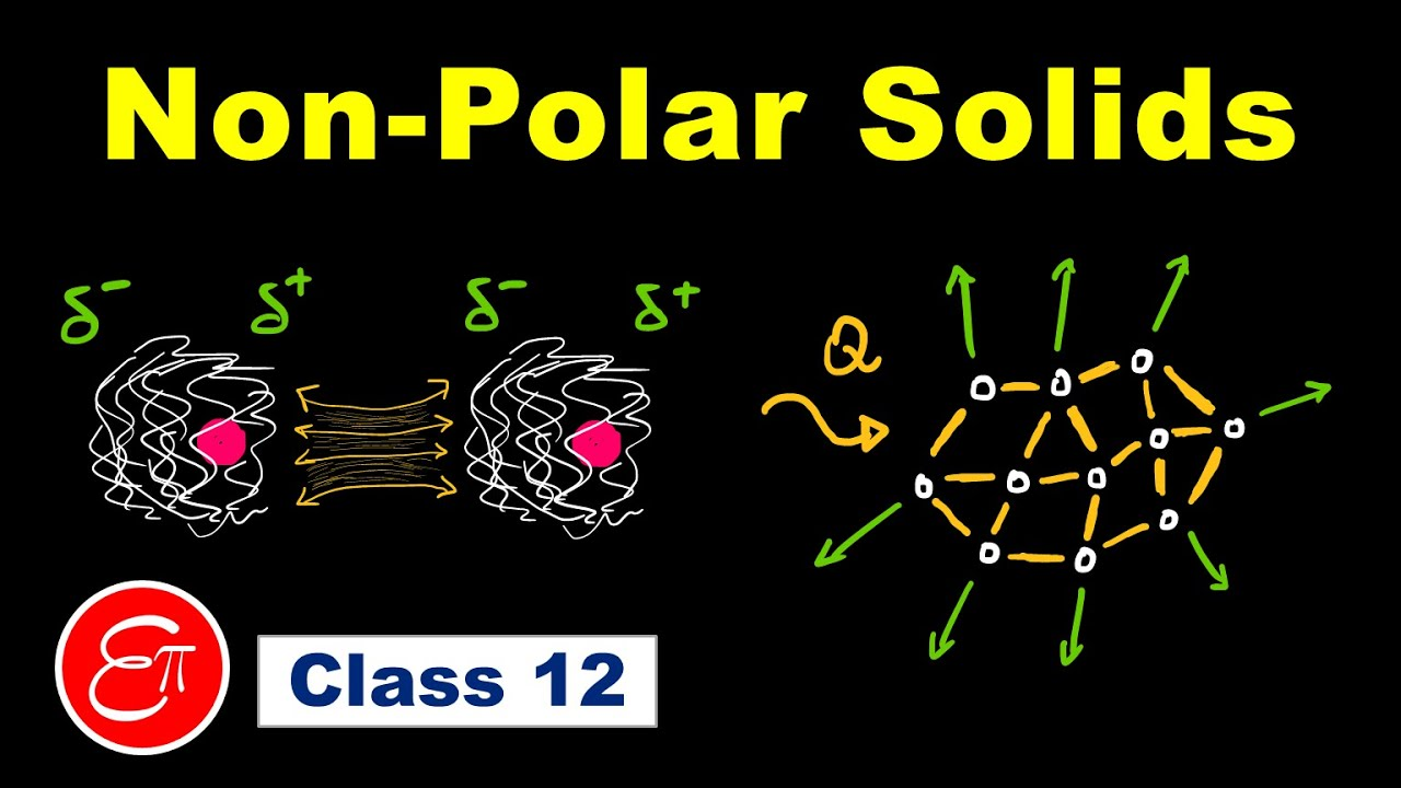 NON POLAR molecular solids and LONDON dispersion forces (The Solid State - 3) for Class 12 in Hindi