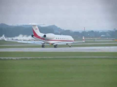 a private jet taking off from eppley airfield last year during burkshire hathway