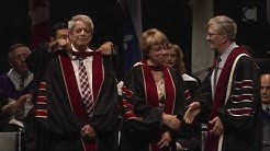 Louise Rousselle Trottier and Lorne Trottier, 2018 Concordia Honorary Doctorate