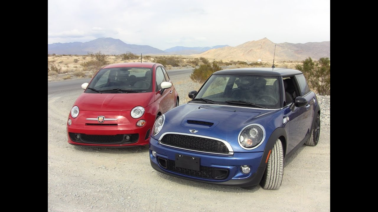 2012 Mini Cooper S Versus Fiat 500 Abarth 0 60 Mph Mashup Review