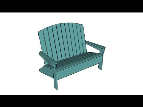 Adirondack Loveseat Plans Youtube