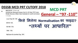 DSSSB MCD PRT Cutoff 97-110 | Full Analysis Survey and Report by Mentors 36 Based on Facts