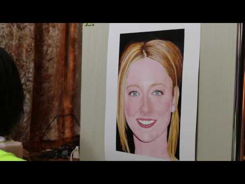 Painting of Judy Greer (work in process 22)