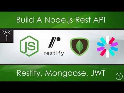 Node.js Rest API With Restify, Mongoose, JWT - Part 1