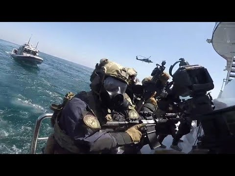 The Coast Guard Can Be Awesome Too! GoPro Helmet Cam Ship Raid Training