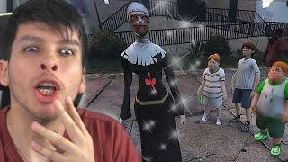 LOS NIÑOS DE ICE SCREAM CONOCEN A LA MONJA MALVADA !! OMG (GTA 5 Mods)