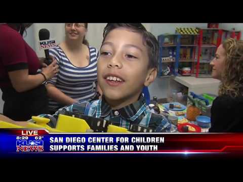KUSI features the San Diego Center for Children's Family Wellness Center in La Mesa Part 5