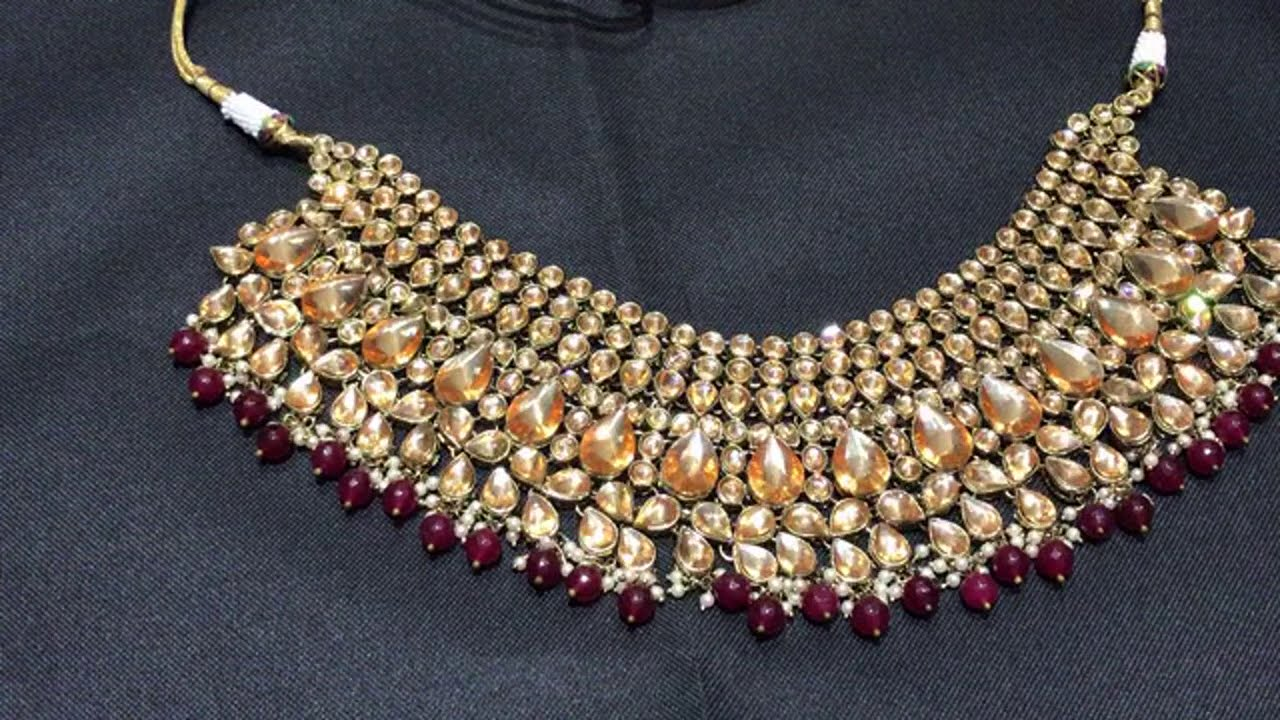 Reverse a d replica ruby maroon color dulhan set @4738/- 8-7-20 ,limited stock available
