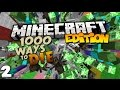 Top 10 Ways to Die in Minecraft 1000 Ways to Die Part 2