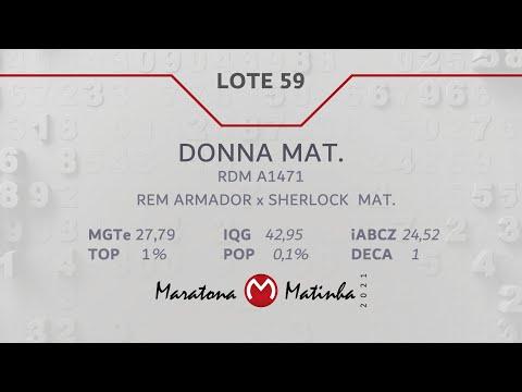 LOTE 59 Maratona Matinha