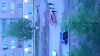 Пьяные мужики посреди дороги  Прикол!!!