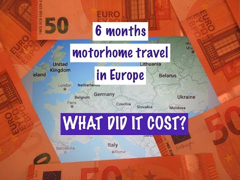 WHAT DID IT COST To Motorhome In EUROPE For 6 MONTHS?