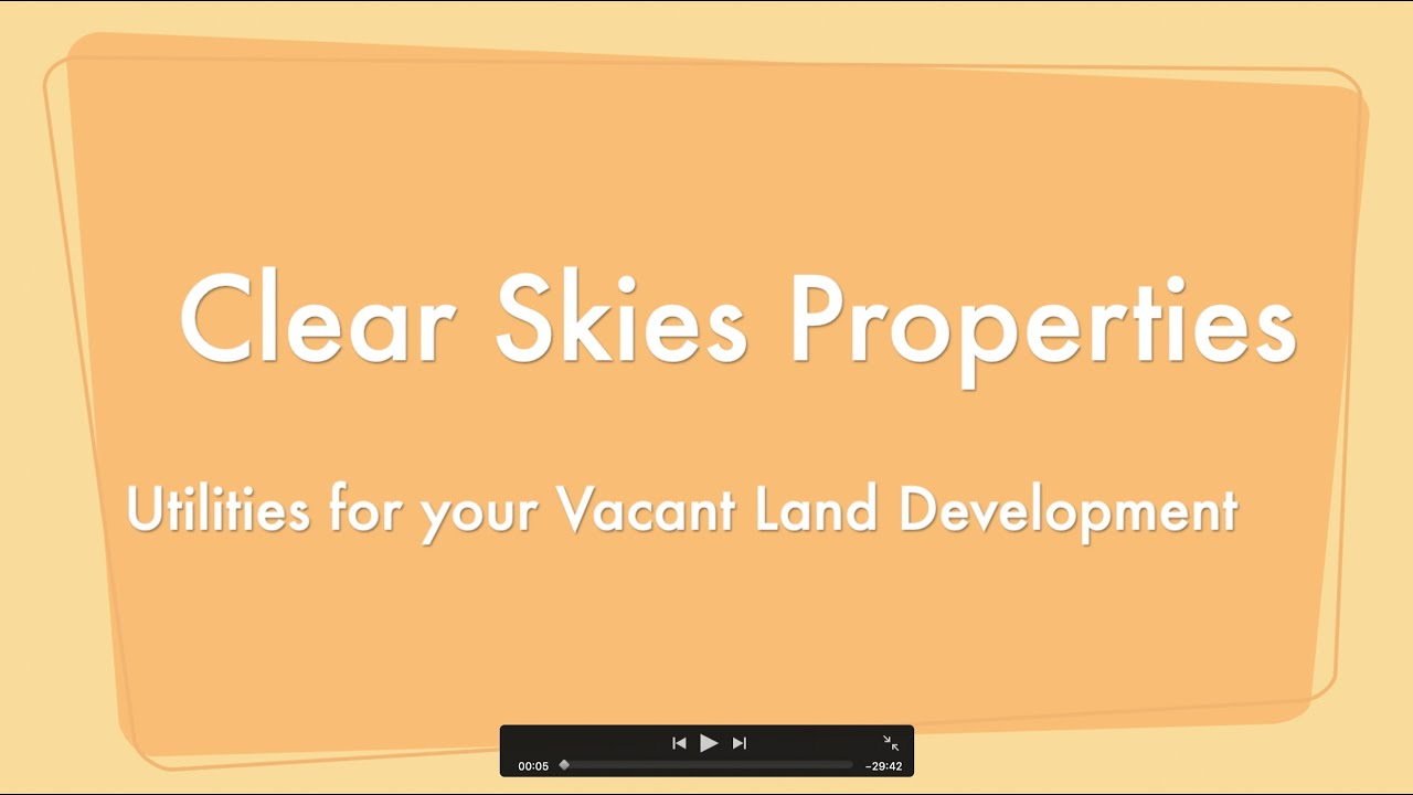 Primer on Utilities for Vacant Land Development