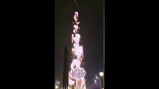 Burj Khalifa LED Show - Mother of the Nation