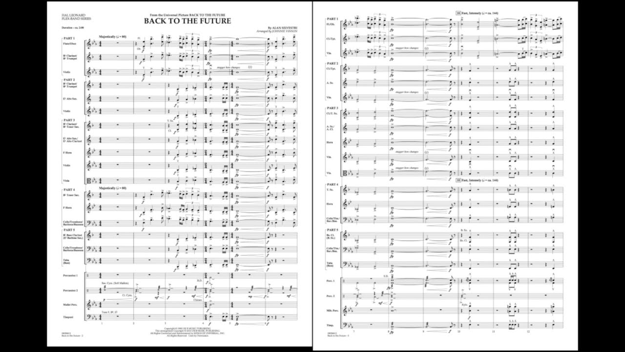 Back to the Future (Main Theme) by Alan Silvestri/arr  Johnnie Vinson