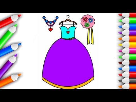 мультик раскраска видео для девочек платье для принцессы
