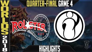 KT vs IG Quarter-Final Highlights Game 4 | Worlds 2018 Quarter-Final | KT Rolster vs Invictus Gaming