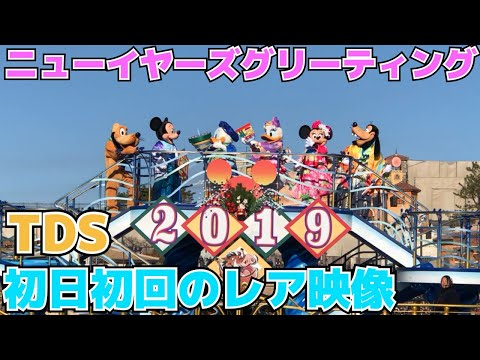 【最速投稿】2019ニューイヤーズグリーティング初日初回【TDS編】