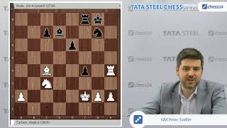 Carlsen - Duda, Tata Steel 2019: Svidler's Game of the Day