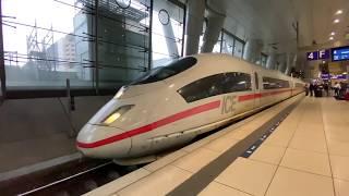 ドイツ鉄道の特急列車ICE(フランクフルト空港駅) Germany Deutsche Bahn Express train Frankfurt Airport Station ICE