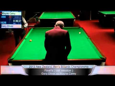 NZ Men's English Billiards Championship Session 3