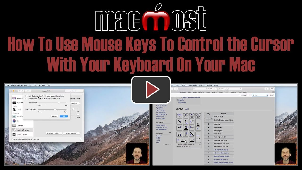 How To Use Mouse Keys To Control the Cursor With Your Keyboard On