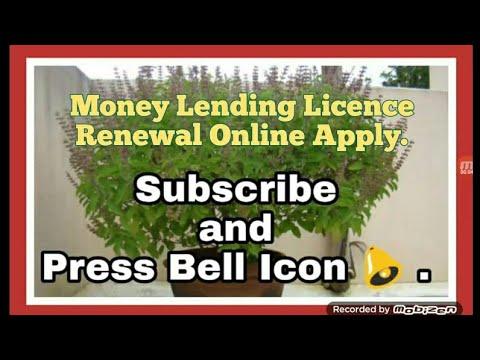Money Lending Lience Renewal Online Apply Info By Kapil Talreja