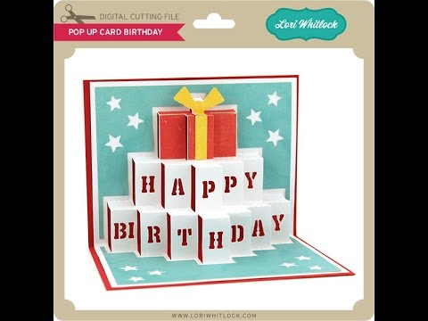 pop up card birthday, Birthday card