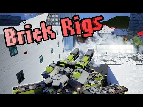 Huge Tank, Bomb Explosion, Flying Camper! Brick Rigs Workshop Creations - Gameplay Highlights