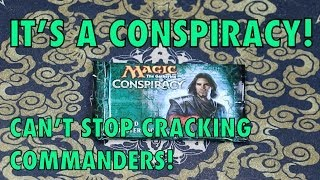 mtg it s a conspiracy can t stop cracking commanders also journey into nyx magic gathering