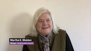 2020 AGU Honors - Ambassador Award Recipient: Martha E Maiden
