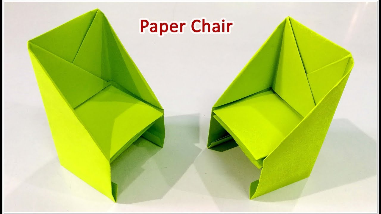 How to make an origami Chair step by step. - Paper Chair ...