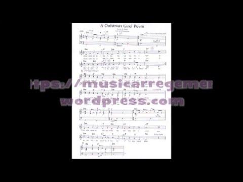 A CHRISTMAS CAROL POEM   3 PART CHOIR - MUSIC SHEET   R Cenik & G K Chesterton